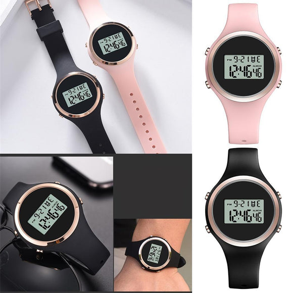 Black Watch 5mm Watch Simple Pink Silicone 38mm 15 Smart 5mm Straps Fashion 230mm 53 5g Student Electronic Children's 12