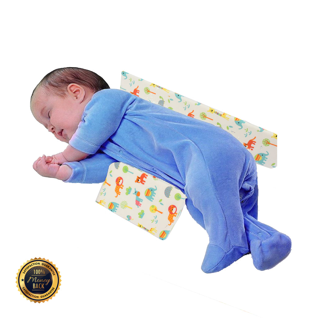 baby sleep positioner, baby side sleeping pillow toddler pillow YAWGI sweet sleep design