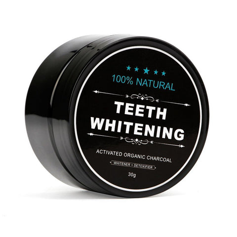 100% Natural Organic Activated Charcoal 30g + FREE Bamboo Toothbrush