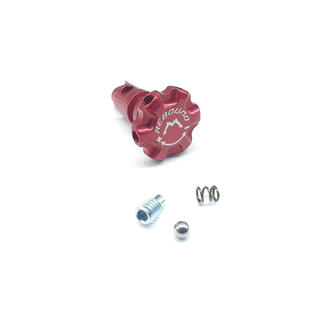 053 SHOCK KNOB KIT RED REBOUND