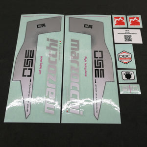 STICKER KIT MY15 350 CR WHT-FORK