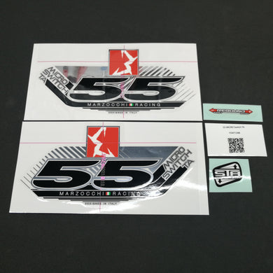 STICKER KIT MY13 55 MICRO STA WHT-FORK