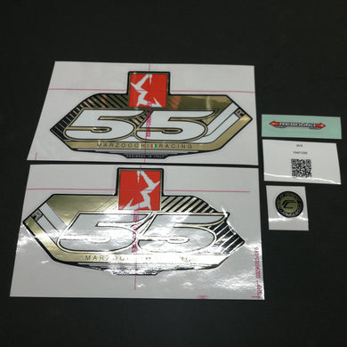 STICKER KIT MY13 55 R BLK-FORK