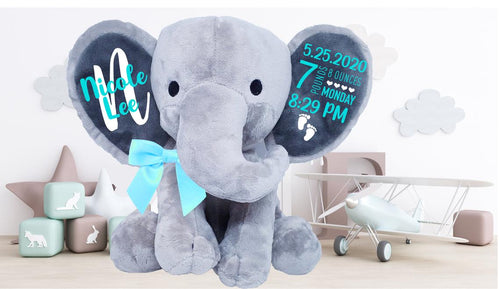 Personalized Baby Announcement Elephant