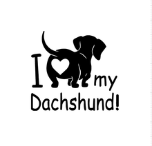 Load image into Gallery viewer, I Love my Dachshund Decal