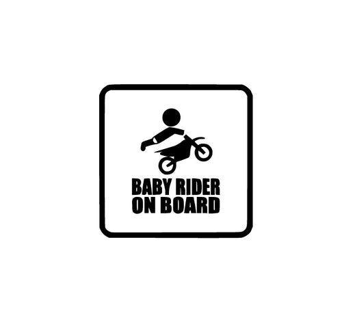 Baby MX Rider on Board Vinyl  Decal - Self Expressions Decals & More