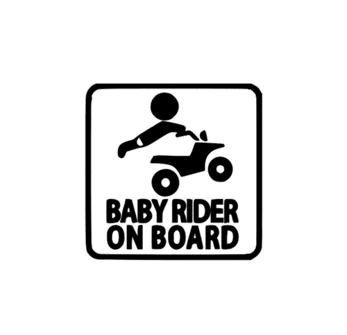 Baby 4Wheeler Rider on Board Vinyl  Decal