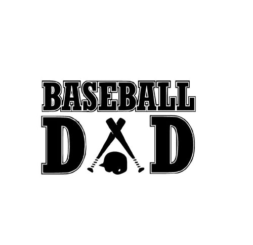 Baseball Dad Decal - Self Expressions Decals & More