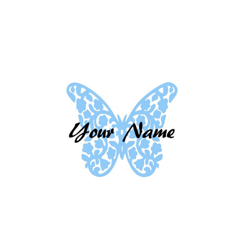Floral Butterfly Decal - Self Expressions Decals & More