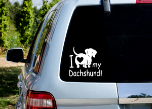 I Love my Dachshund Decal