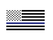 Load image into Gallery viewer, Blue Line American Flag Decal - Self Expressions Decals & More
