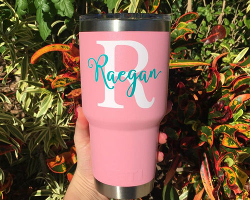 Personalized Name Cup Decal