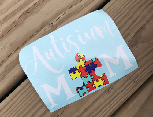 Autism Mom Car Decal - Self Expressions Decals & More