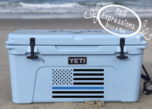Blue Line American Flag Decal - Self Expressions Decals & More