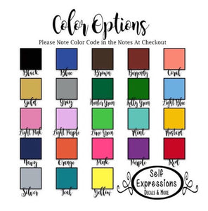 Captions Wheel Cup Decal - Self Expressions Decals & More