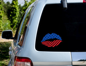 American Lips Decal - Self Expressions Decals & More