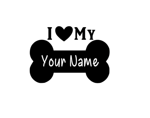 I love my dog Decal - Self Expressions Decals & More