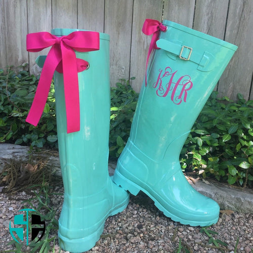 Rain Boots Personalized Monogram - Self Expressions Decals & More