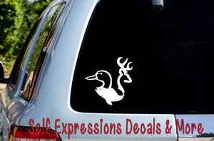 Buck Bass Duck Car Decal - Self Expressions Decals & More