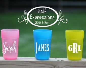 Personalized Kids Cups - Self Expressions Decals & More
