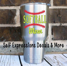 Load image into Gallery viewer, Softball Mom Decal