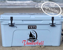 Load image into Gallery viewer, Personalized Sailboat Cooler Decal - Self Expressions Decals & More