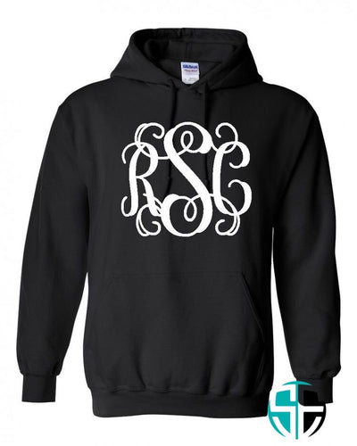 Adult Monogramed Hoodie - Self Expressions Decals & More