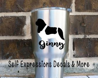 Personalized Newfoundland Dog Cup Decal - Self Expressions Decals & More