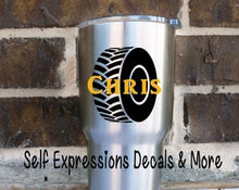Load image into Gallery viewer, Personalized Tire Cup Decal - Self Expressions Decals & More