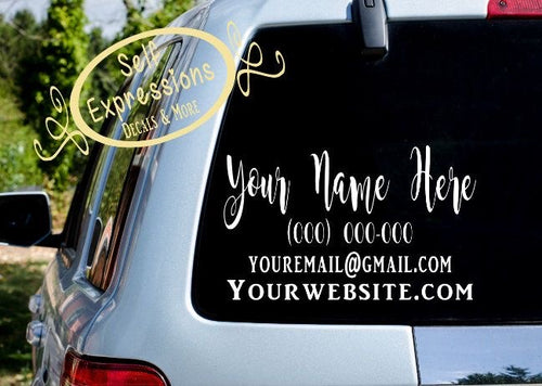 Bussiness Logo Decals - Self Expressions Decals & More