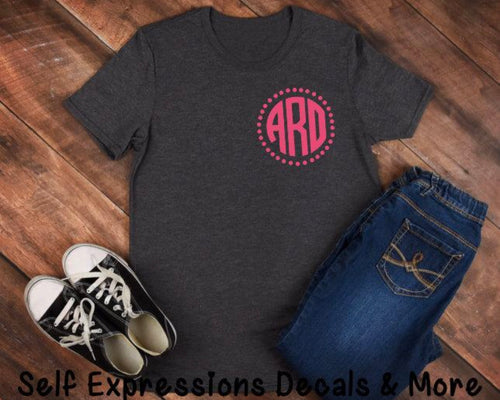 Monogramed Ladies T-shirt - Self Expressions Decals & More