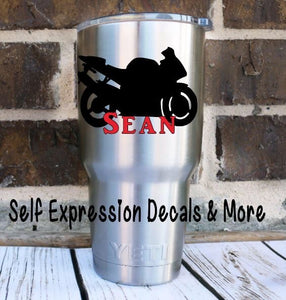 Personalized Bike Cup Decal - Self Expressions Decals & More