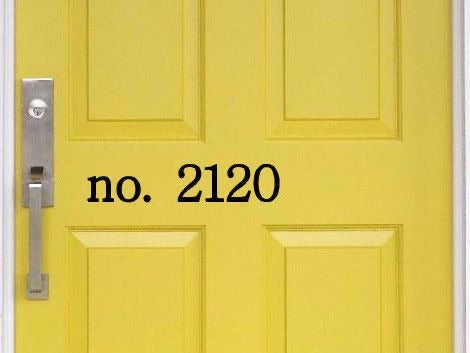 Personalized Block House Number Door Decal - Self Expressions Decals & More