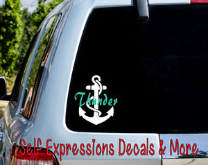 Personalized Anchor Car Decal - Self Expressions Decals & More