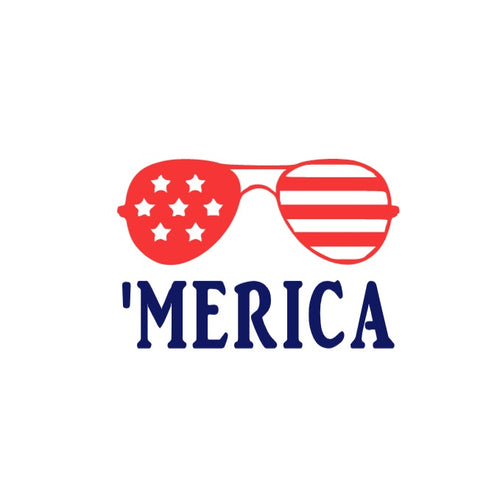 America 'Merica Decal - Self Expressions Decals & More