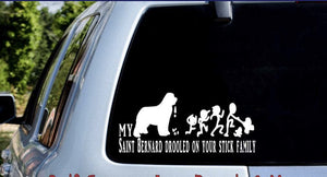 My Saint drooled all over your stick family decal