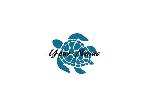 Personalized Sea Turtle Decal