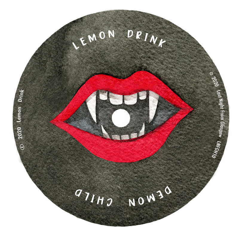 "Lemon Drink - Demon Child - Etched 7"" Vinyl Single with DL"