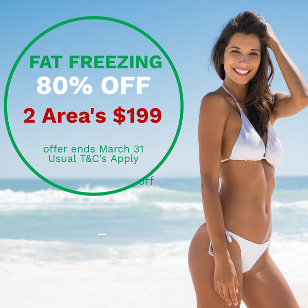 MARCH DEALS Fat Freezing Cryolipolysis on 2 areas for $199 (not $998) buy two vouchers and get two FREE RF skin tightening treatments on the same area!