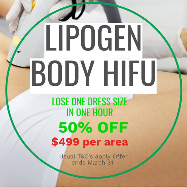 MARCH DEALS - LIPOgen Body HIFU Treatment 50% Off - only $499 per area! (not $998)