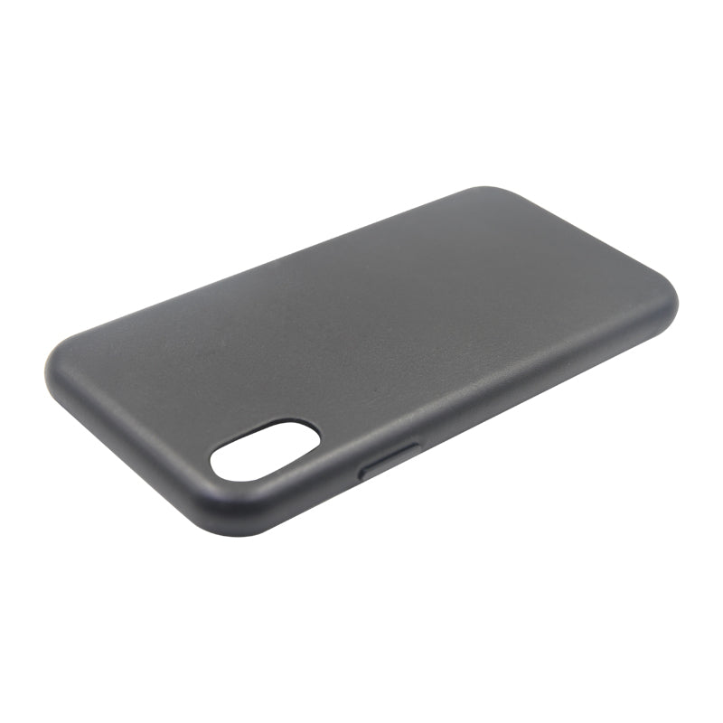 Fitted Leather Case For iPhone X/XS Black