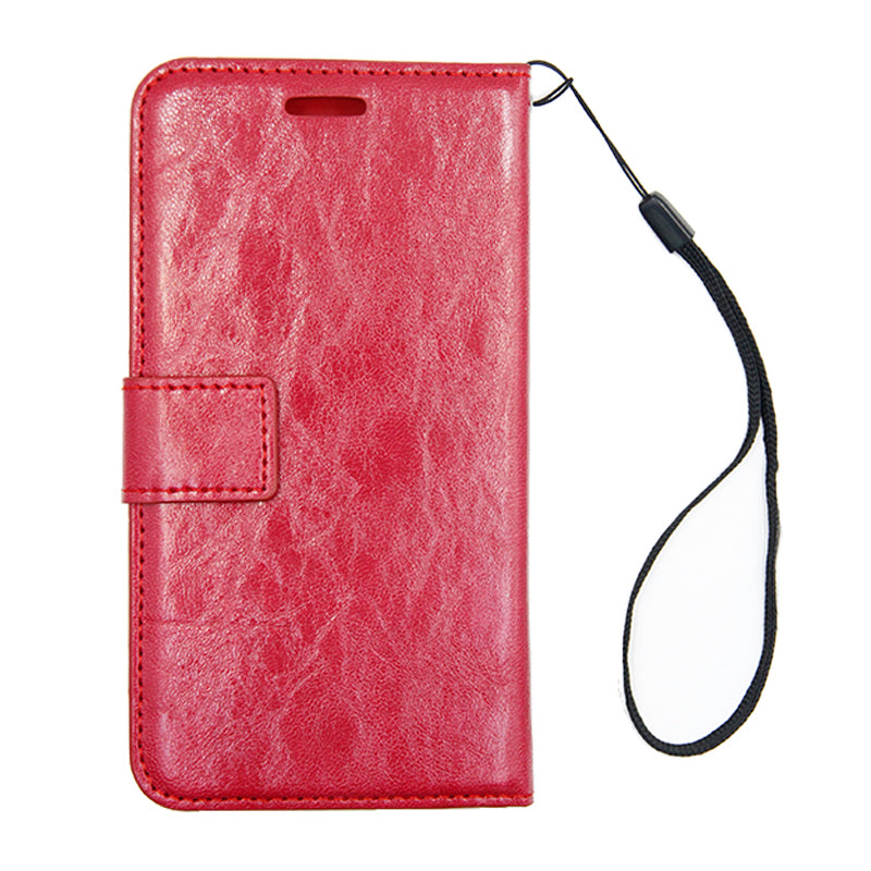Detachable Leather Case For iPhone X Red