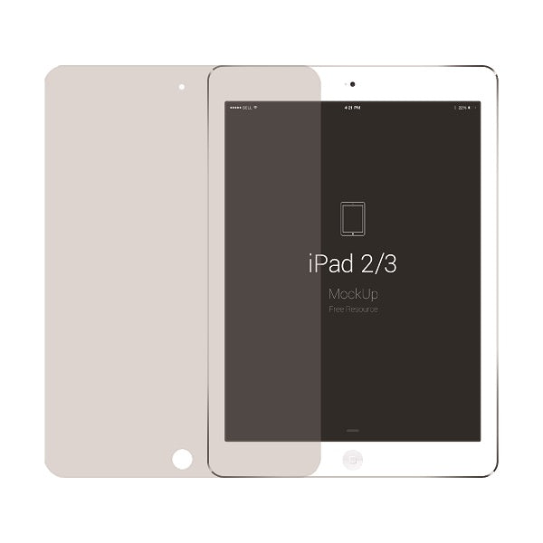 GSP Japan Tempered Glass Screen Protector  For iPad 2/3  Transparent With packing