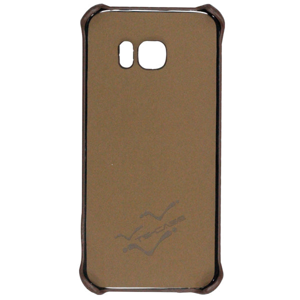 Fitted Leather Case For Samsung S7 Edge Coffee