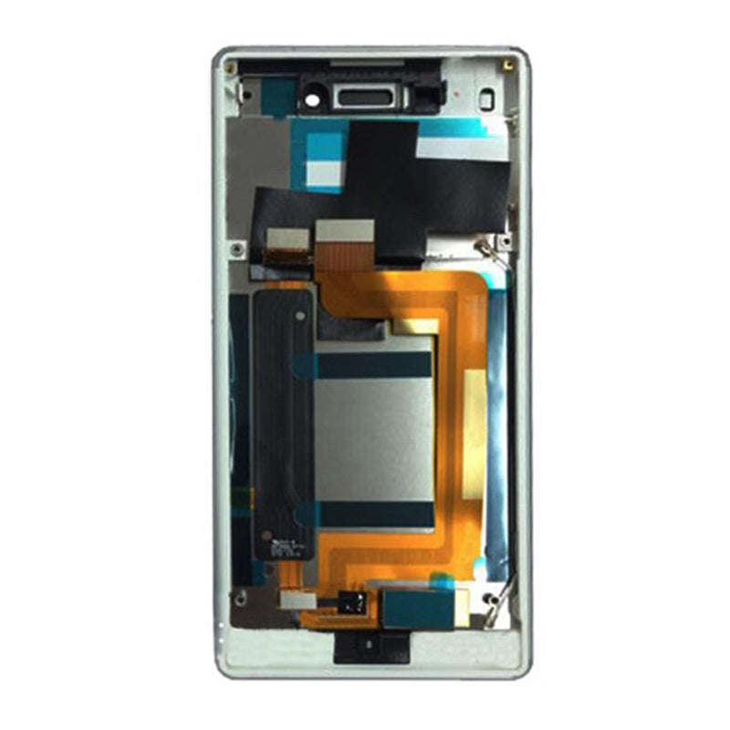 Sony Xperia M4 Aqua LCD Display White With Frame
