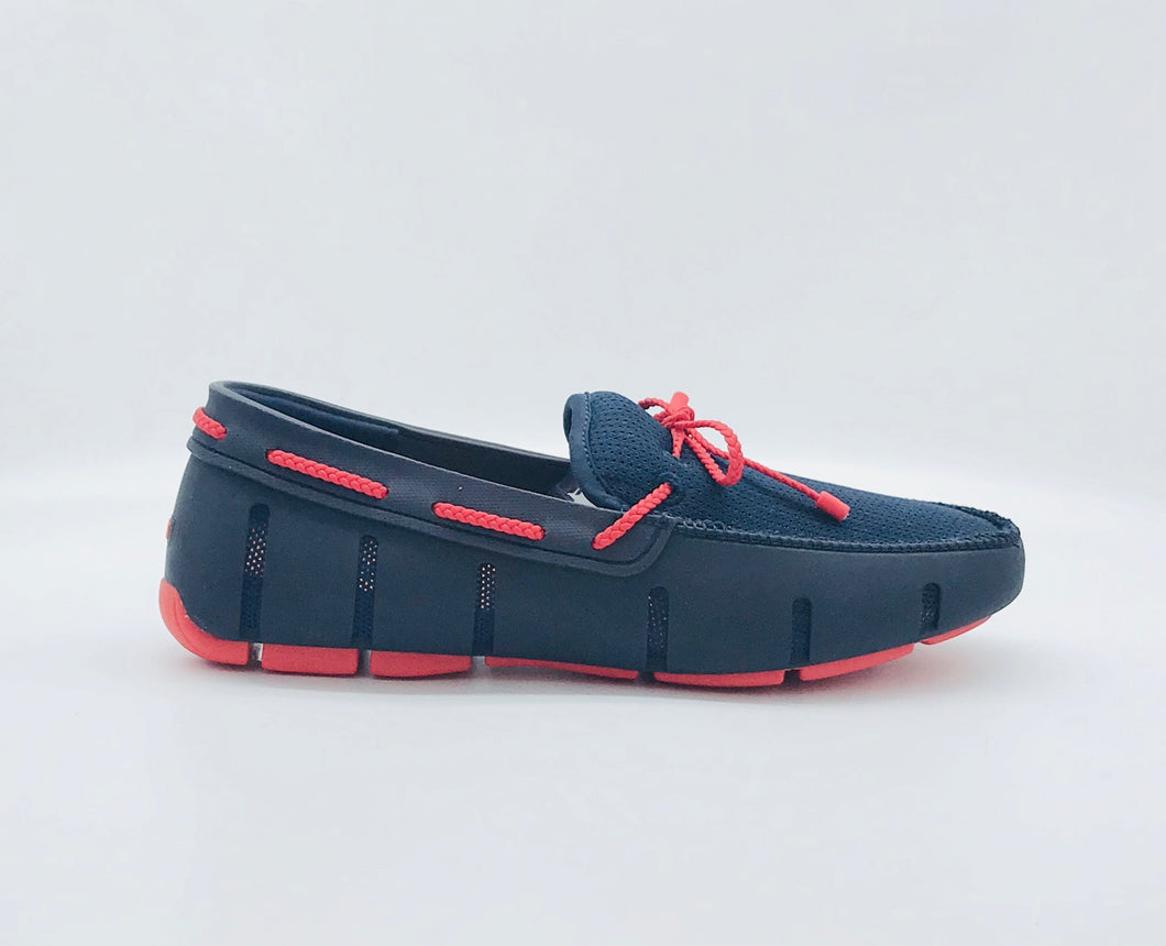Swims Braided Lace Loafer- Navy/Red Alert