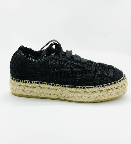 Gaimo Deya Cordelia Yute - Lace Up Sneaker Black