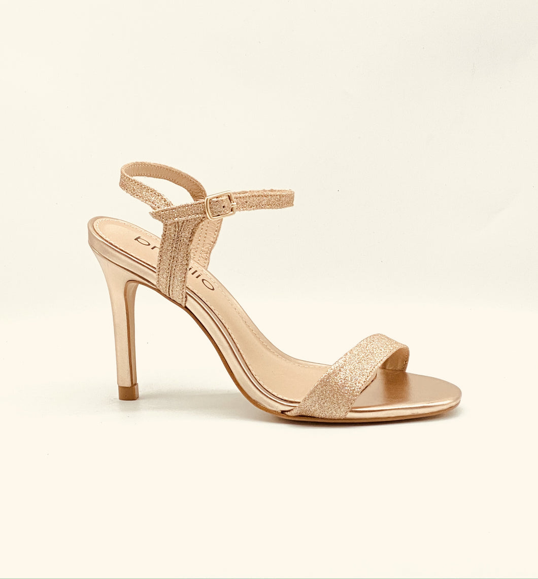 Brazilio Glamour Glitter heel with Ankle strap