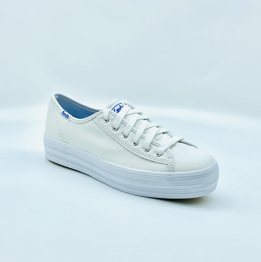 Keds Triple Kick White Leather Sneaker