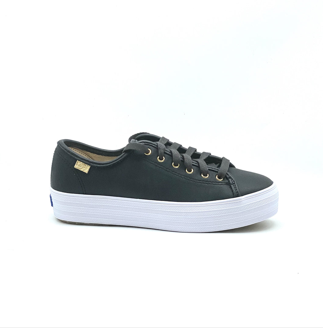 Keds Triple Kick Luxe leather Black